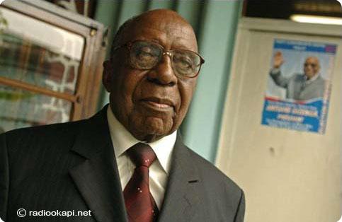 Antoine Gizenga RDC Antoine Gizenga dmissionne Radio Okapi